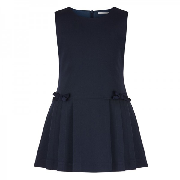 sukienka z dwiema kokardkami