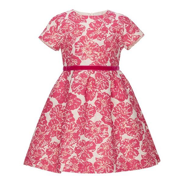 sukienka w różowo-złote kwiaty
