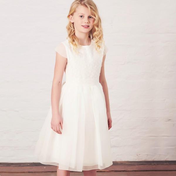 sukienka z ozdobnymi kropeczkami