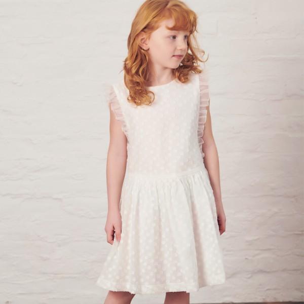sukienka w ozdobne kropeczki