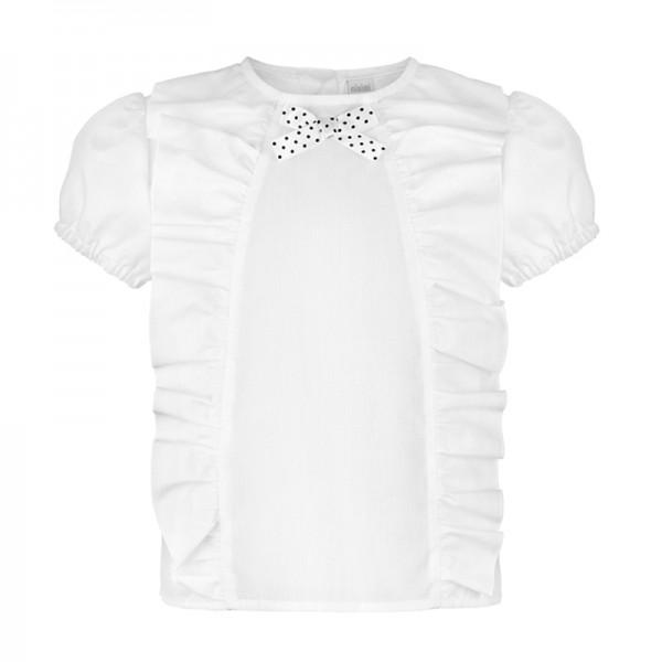 biała bluzka z krótkim rękawkiem