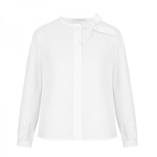 biała bluzka z kokardką