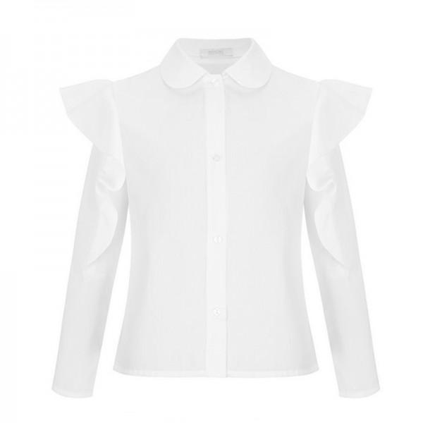 biała bluzka z falbanami