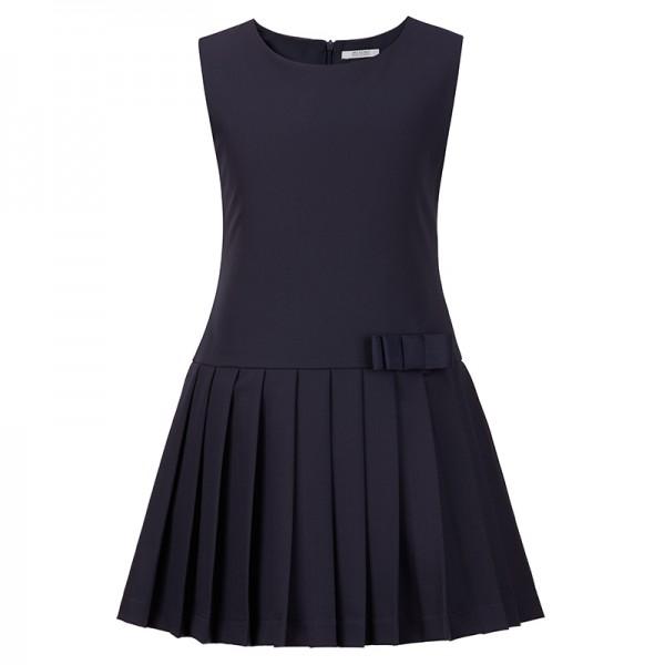 sukienka z plisowanym dołem i kokardką