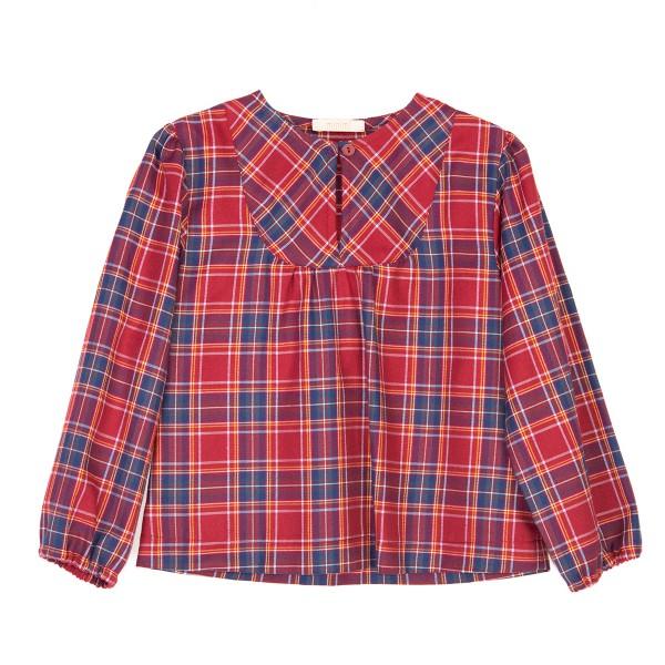 bluzka bordowa w kratkę