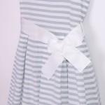 sukienka w srebrne paski