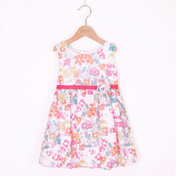 sukienka bombka w kolorowe kwiatki