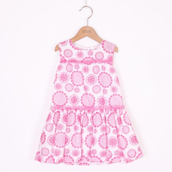 sukienka w różowe kółka