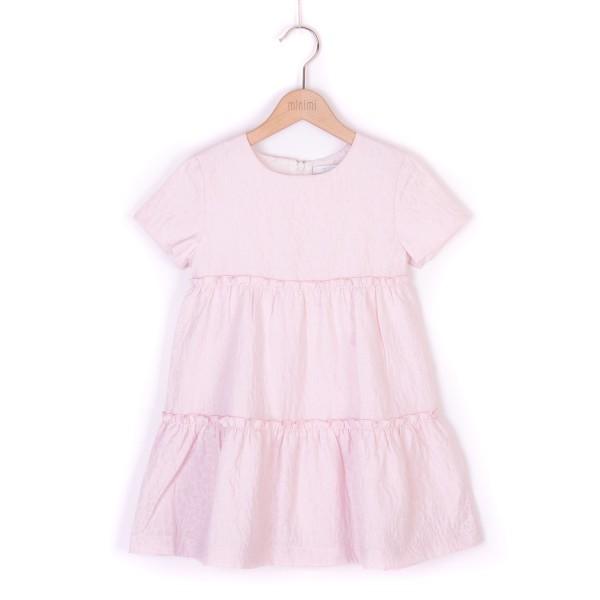 sukienka z rożowego żakardu
