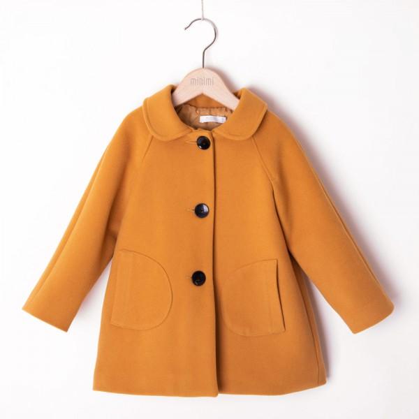 płaszcz żółty z kieszonkami