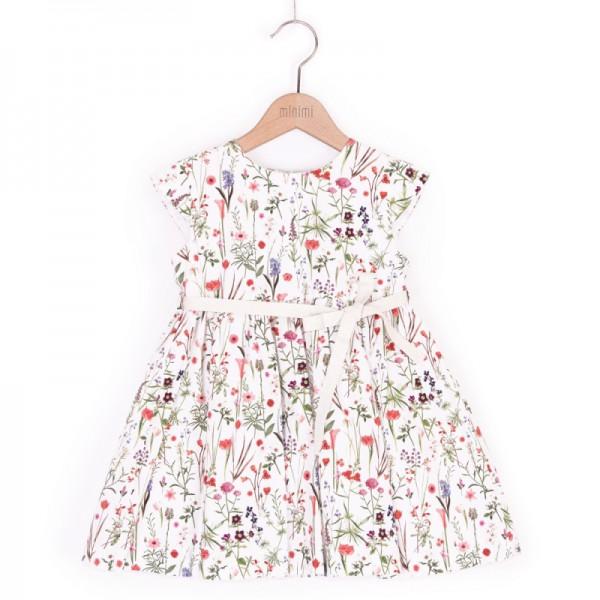 sukienka w kolorowe kwiaty