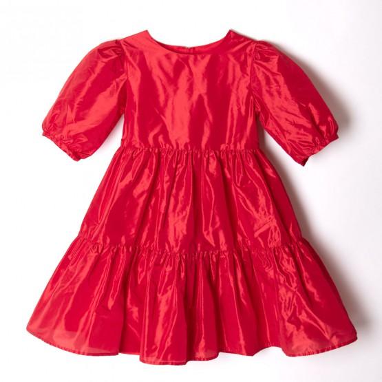 sukienka czerwona z tafty