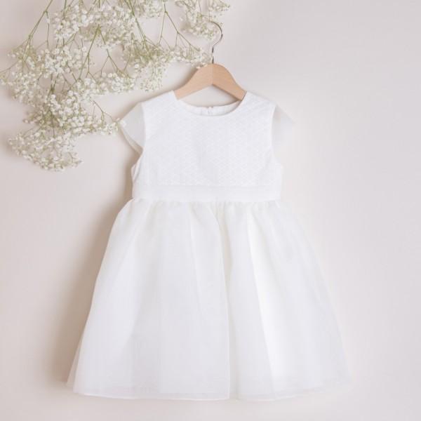sukienka z drobnym haftem