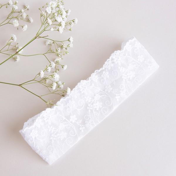 opaska biała koronkowa