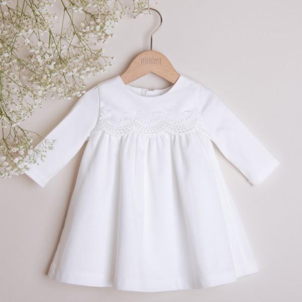 bawełniana sukienka z koronką