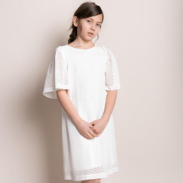 sukienka z ażurowego materiału