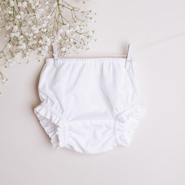 bloomersy białe bawełniane