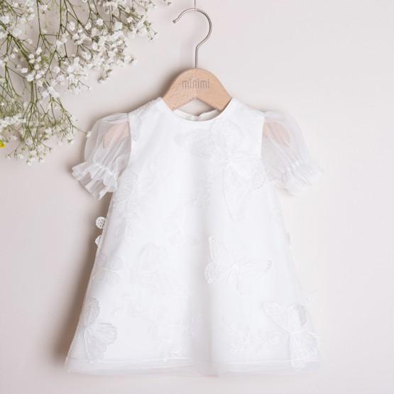 sukienka biała z motylami