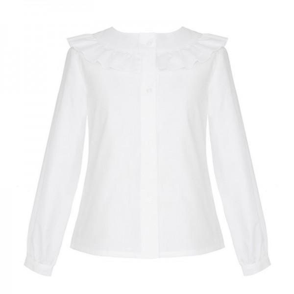 bluzka biała z falbanką