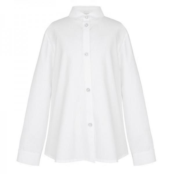 bluzka biała z ozdobymi guzikami