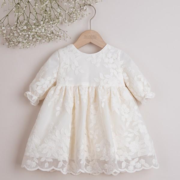 sukienka koronkowa kremowa