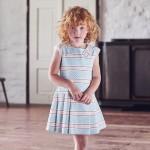 sukienka w niebieskie paski